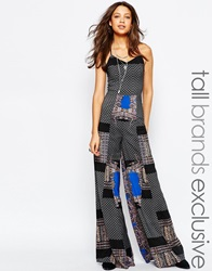 Glamorous Tall Printed Wide Leg Cami Jumpsuit Multi