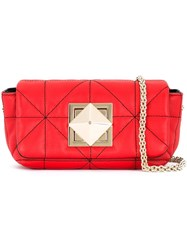 Sonia Rykiel Quilted Shoulder Bag Red