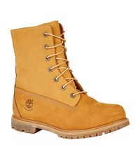 Timberland Teddy Fleece Waterproof Fold Down Boots Female Brown