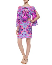 Alice And Trixie 3 4 Sleeve Ikat Print Shift Dress