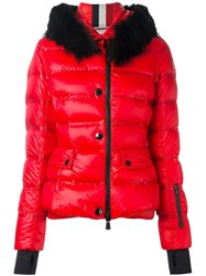 Moncler Grenoble Hooded Padded Jacket Red