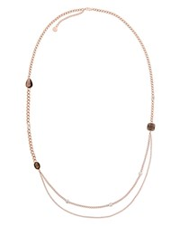 Michael Kors Station Chain Necklace 32 Rose Gold