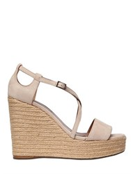 Tabitha Simmons 130Mm Suede Wedge Sandals