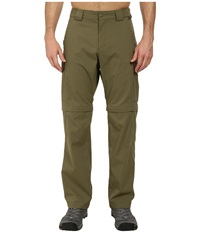 Jack Wolfskin Activate Zip Off Pants Burnt Olive Men's Casual Pants