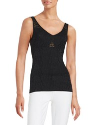 Guess Lace Tank Top Black
