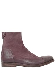 Alberto Fasciani Washed Reversed Leather Ankel Boots