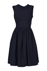 Jolie Moi Boat Neck 50S Fit And Flare Dress Navy