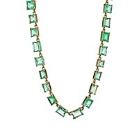 Irene Neuwirth Diamond Collection Women's Colombian Emerald Necklace No Color