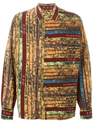 Jean Paul Gaultier Vintage Striped Oversized Shirt Multicolour