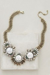 Baublebar Oak Moss Bib Necklace Green Motif