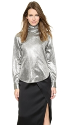 Cedric Charlier Long Sleeve Blouse Argento