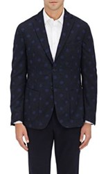 Montedoro Men's Dotted Wool Blend Sportcoat Navy