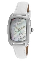 Invicta Women's Special Edition Lupah Leather Strap Watch White