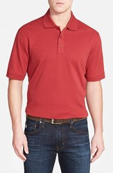 Men's Nordstrom Regular Fit Interlock Knit Polo Red Rosewood Heather