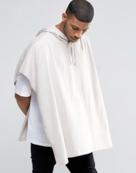 Asos Super Oversized Hooded Cape T Shirt In Off White Antique