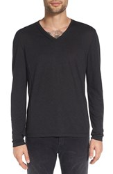 John Varvatos Men's Star Usa Long Sleeve V Neck T Shirt