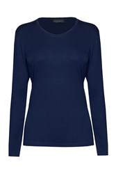 James Lakeland Basic Long Sleeve T Shirt Navy