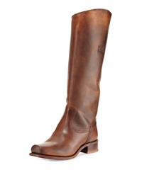 Frye Cavalry Distressed Leather Riding Boot Brown