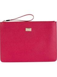 Tod's Zipped Clutch Pink And Purple