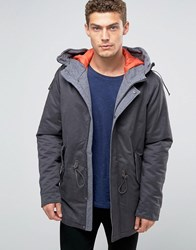 United Colors Of Benetton Parka With Quilted Lining Slate 06W Grey