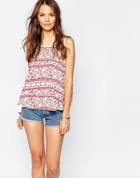 Vero Moda Printed Sleeveless Top Red