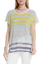 Vince Camuto Women's Two By 'Sundeck Muse' Stripe Linen Tee Navy Stone