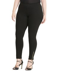Lauren Ralph Lauren Plus Paneled Ponte Leggings Black