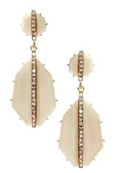 Amrita Singh Art Deco Earrings Beige