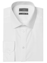 John Lewis Tailored Non Iron Self Stripe Long Sleeve Shirt White