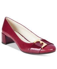 Anne Klein Hastobe Block Heel Dress Pumps Berries