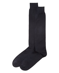 The Men's Store At Bloomingdale's Cotton Blend Full Length Dress Socks Navy