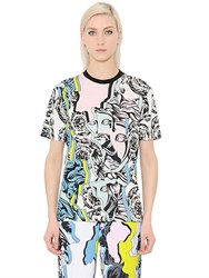 Versace Printed Viscose And Silk Jersey T Shirt