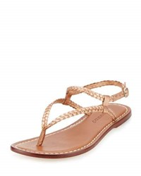 Bernardo Merit Woven Leather Sandal Navy
