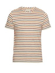 Oliver Spencer Breton Striped Cotton Jersey T Shirt Cream Multi