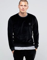Religion Velour Sweatshirt Black