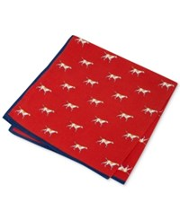 Club Room Men's Dog Pocket Square Only At Macy's Red