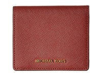 Michael Michael Kors Jet Set Travel Carryall Card Case Brick Credit Card Wallet
