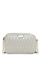 Cole Haan Simone Quilted Leather Crossbody Metallic