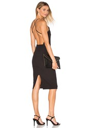 Donna Mizani Square Neck Midi Dress Black