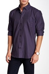 Toscano Houndstooth Regular Fit Long Sleeve Shirt Purple