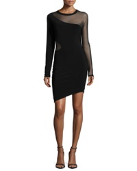 Elizabeth And James Ziomara Long Sleeve Fitted Dress Black