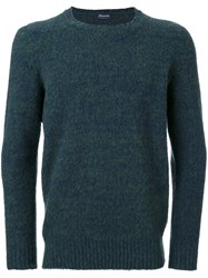 Drumohr Crew Neck Jumper Green