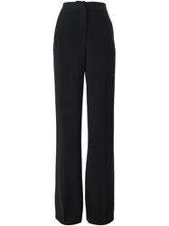 Msgm High Waisted Straight Trousers Black