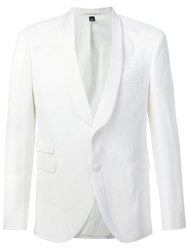 Neil Barrett Two Button Blazer White
