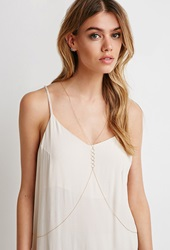 Forever 21 Circle Charm Body Chain Gold