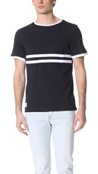Native Youth Stripe Contrast Tee Navy