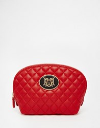 Love Moschino Quilted Cosmetic Bag Red