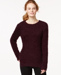 Calvin Klein Jeans Crew Neck Eyelash Sweater Elderberry
