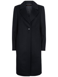 Jaeger Wool Cashmere Coat Midnight