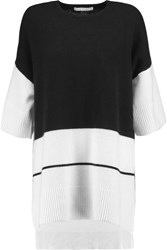 10 Crosby By Derek Lam Two Tone Cashmere Top White